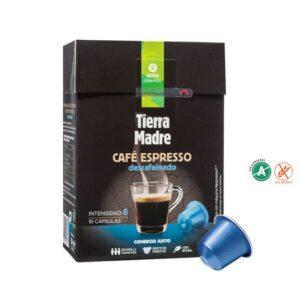 "Cápsula Café Descafeinado ""Tierra Madre"" Comercio Justo (0,34€/dosis)"
