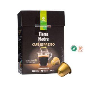 """Cápsula Café Suave """"Tierra Madre"""" Comercio Justo (0,34€/dosis)"""