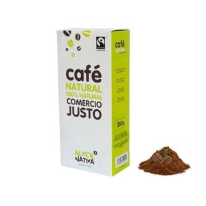 Café 100% Natural Molido 250 gr Comercio Justo (0,38€/dosis)