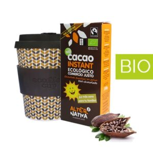 Pack Regalo Vaso Bambú y Cacao BIO Instantaneo