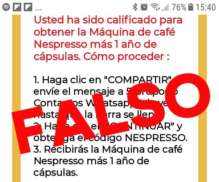 Eqshop No está regalando máquina + Cápsulas por 1 año.