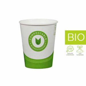 Vasos papel Compostable & Biodegradable 6 oz (100 un)